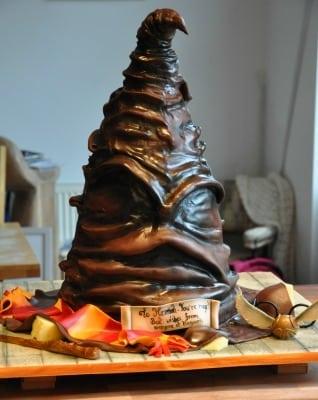 harry potter sorting hat cake